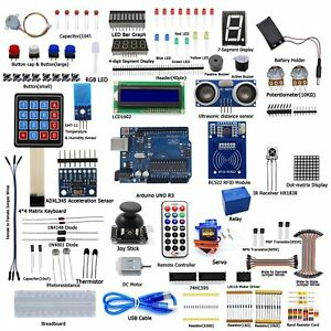 Ultimate Starter Diy Kits For Arduino Uno R3 Lcd1602 Servo Processing Led New Hp