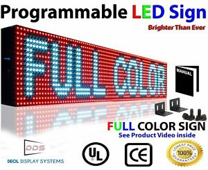 Led Signs Full Color 10mm 6 X 50 Semi outdoor Programmable Scrolling Message