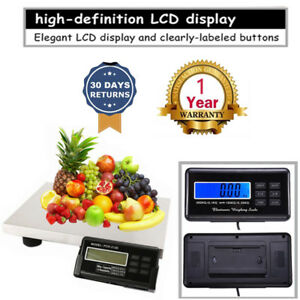 440lbs Lcd Ac Digital Floor Bench Scale Postal Platform Shipping 3 Units 200kg I