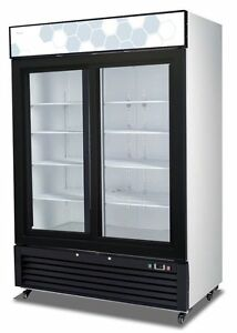 Migali C 49rs Upright Reach In Two 2 Sliding Glass Door Cooler Warranty