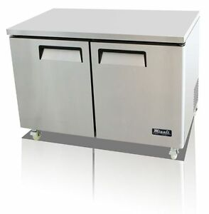 Migali C u48f Under counter Work Top Freezer Two Solid Doors With Warranty
