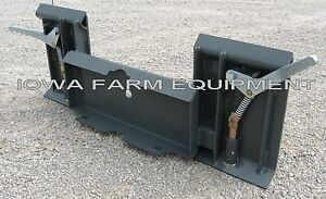 mini Skid Steer Quick Attach To standard Skid Steer Quick Attach Adapter
