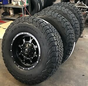 5 18 Fuel Krank Black Wheels Jeep Wrangler Jk Tj 35 Bfg At Ko2 Tires Package