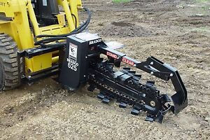 Skid Steer Trencher Bradco 625 Digs 36 Deep 6 Wide 2 Position Ship Same Day