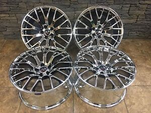 Ford Mustang Gt 19 X8 5 19 10 Rims Wheels Oem Specs Staggered Chrome 10036 Set
