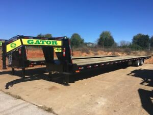 45 Ft Hot Shot Freight Trailer Air Ride Gooseneck Gator Made Trailer