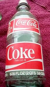 Vintage Rare Coca Cola Coke 2 Liter Size Glass Bottle Collectible