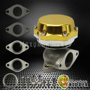Gold 35mm 38mm Stainless Steel Adjustable Turbo Manifold External Wastegate