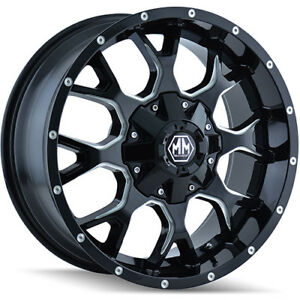 18x9 Black Warrior 8015m 5x4 5 5x5 12 Nitto Trail Grappler 285 65r18 Rims Tires