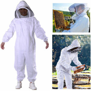 2x Beekeeping Veil Bee Keeping Full Body Suit Hat Smock Protective Equipment Xxl