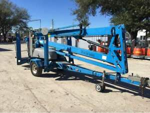 Genie Tz50 56 Towable Boom Lift 30 Outreach auto Leveling 2011 Only 192 Hours