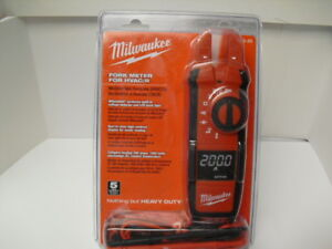 New Sealed Milwaukee 2206 20 Fork Meter For Hvac r 200a 40 Mohms