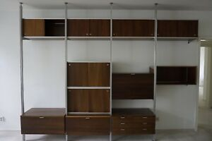 Vintage Css George Nelson Shelving Unit Herman Miller Midcentury Wall Unit Usa
