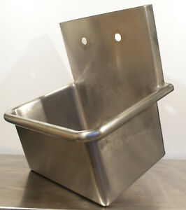 Just Mfg Commercial Stainless Steel Wall Mount Sink 20x15x12 14 Gauge A 18665 s