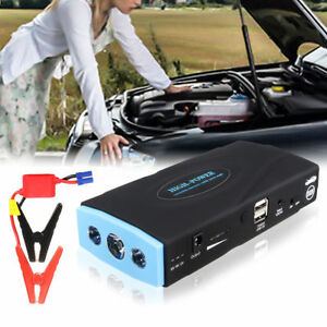 12v Car Portable Jump Starter Emergency Power Bank Battery Charger With Box