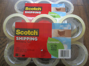 Lot Of 2 Scotch Greener Commercial Grade Shipping Packaging Tape 6 Rolls pack