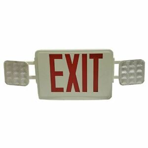 Led Emergency Exit Light Combination Red Letters