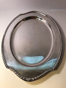 International Silver Co Wickford Pattern 17 X 12 Tray Platter Silver Plated