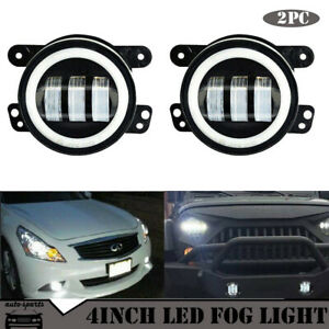 30w High Power Led Fog Light Lamps W Led No Halo Rings For Nissan Infiniti