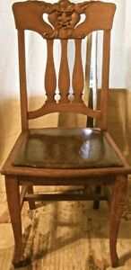 Chair Victorian Arts Crafts Method Side Chair Gothic Revival Grotesques Face