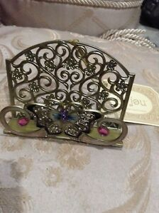 Nwt Metal Business Card Holder With Butterfly Motif