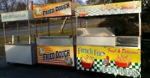 3 Unique Concession Carts Fried Dough Fried Food Beverage