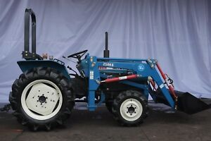 Reconditioned 24 Hp 4wd Mitsubishi D2050 Utility Tractor With Front Loader
