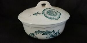 Small Maddocks Lamberton Works Royal Porcelain Covered Bowl Blue Floral On White