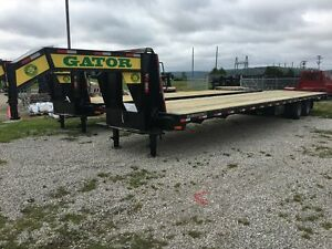 40 Ft Gator Made Gooseneck Air Ride Hot Shot Trailer 40 Ft Trailer