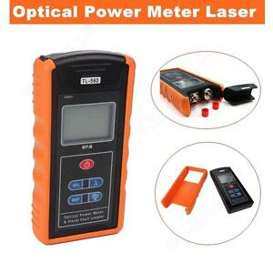 Fiber Optical Power Meter And 10mw Visual Fault Locator Cable Tester Orange