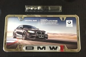 New Oem Genuine Bmw License Plate Frame Stainless Steel Finish 82120010395
