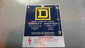 Squared 82344 Double Throw Safety Switch 200amp 600v Non fusible