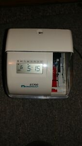Acroprint Es700 Time Date Employee Recorder Clock