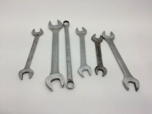 6 Piece Wrench Set Open End Blackhawk 1 5 16 1 1 4