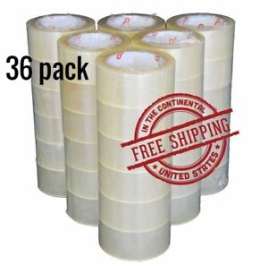 At Tape Clear Packaging Shipping Tape 2 inches X 110 Yds Pack Of 36