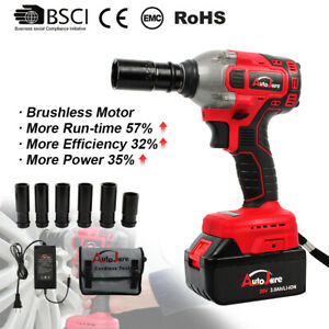 18v 20v Impact Wrench Brushless Cordless 2 Power Tool Torque Ratchet Rattle Gun