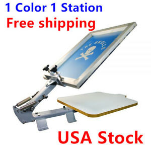 Us Stock Hot 1 Color 1 Station T shirt Silk Screen Printing Machine
