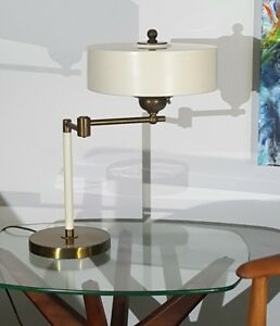 Rare Thurston Style Swing Arm Desk Table Lamp Mid Century Modern Brass Unknown