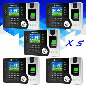 5x Realand Biometric Fingerprint Attendance Time Clock Id Card Reader Employee B