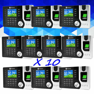 Lot 10 Pack Realand Biometric Fingerprint Attendance Clock Id Card Reader Tcp ip