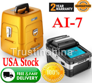 Automatic Focus Ftth Fusion Splicer Fiber Optic Splicing Machine With Cleaver Us