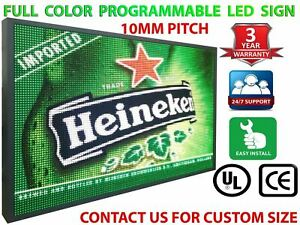 New Led Display 12 X 76 Full Color 10mm Hd Programmable Digital Open Bar Sign