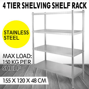 Stainless Steel Kitchen Shelf Shelving Rack 4 Shelves 5 x4 x1 6 Shelves Rack