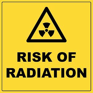 Warning Risk Of Radiation Sign With Symbol Aluminium Metal Biohazard Safety Sign