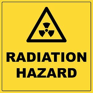 Warning Radiation Hazard Sign Aluminium Metal Safety Hazardous Sign