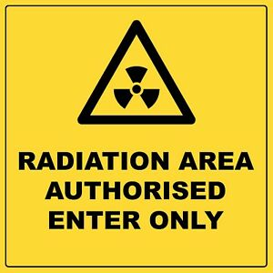 Warning Radiation Area Authorised Enter Only Aluminium Metal Safety Sign