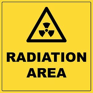 Warning Radiation Area Sign With Symbol Aluminium Metal Hazardous Safety Sign
