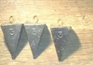 Pyramid lead sinkers 3 ounce