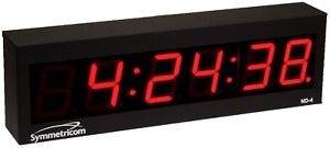 Symmetricom Nd 4 Ntp Internet Synchronized Large Red Led Atomic Wall Clock Nd4