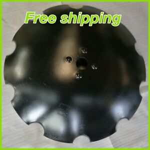 32 x12mm Disc Harrow Blade Notched Center Hole 2 1 8 Round For 4 Bulges